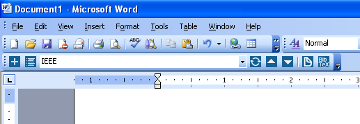 Docear4Word in Microsoft Word 2003