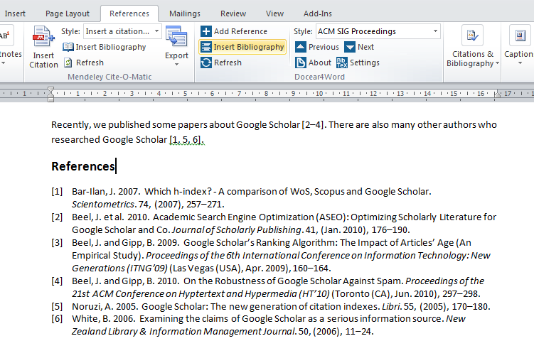 Insert a BibTeX based bibliography in Microsoft Word
