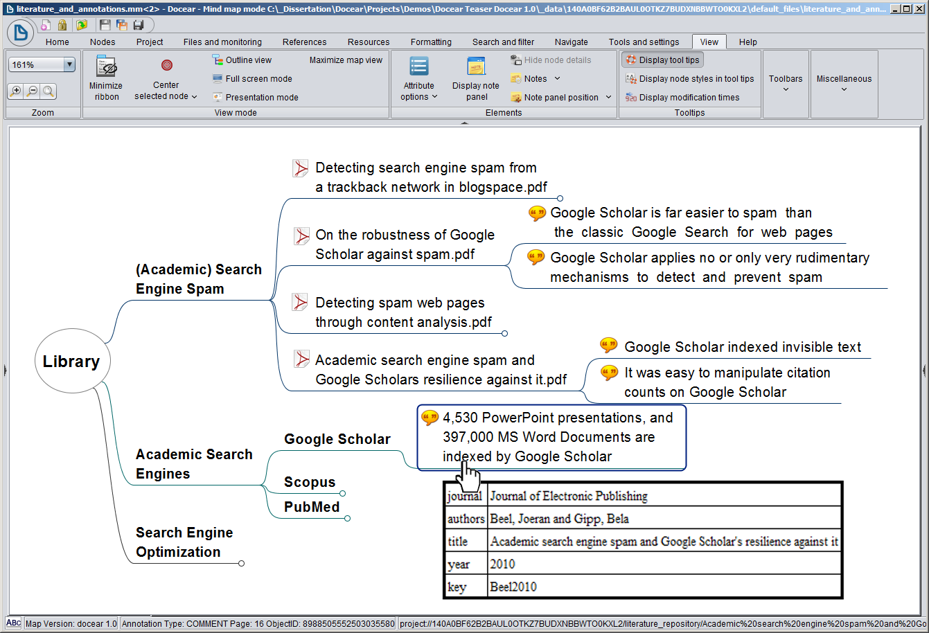 docear  u2013 the visual citation manager